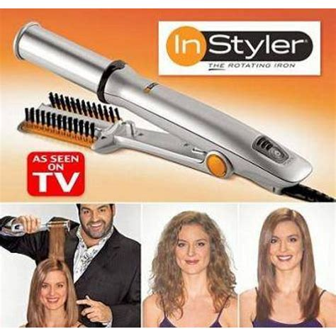 As Seen On Tv Hair Styler Straightener by Instyler A Rotating Cylinder Iron For New Styling