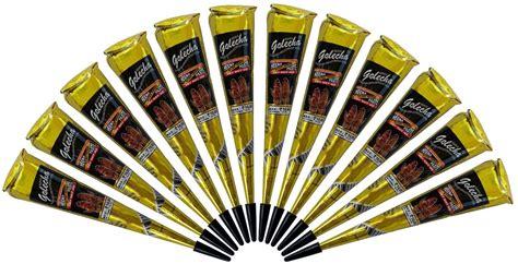 Golecha Henna Black 1 instant golecha black and henna color mehandi mehndi cone