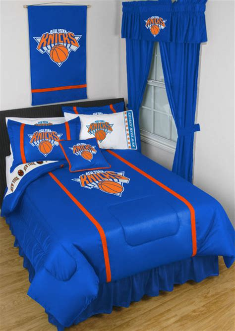 Nba New York Knicks Bedding And Room Decorations Traditional Bedroom New York