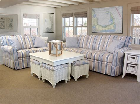 Striped Sofas Living Room Furniture Blue And White Striped Sofa Blue And White Striped Sofa Beachy Nautical Living Room Thesofa