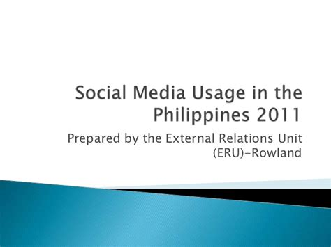thesis about social media marketing in the philippines social media usage in the philippines 2011