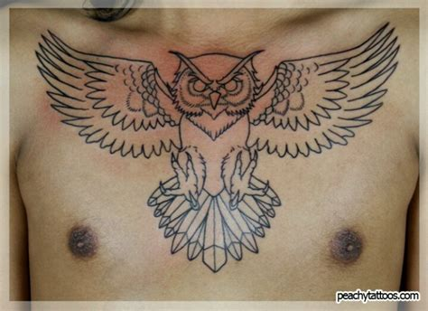 owl tattoo designs chest owl chest tattoo i would love something like this but