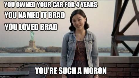 you named it brad girl brad imgflip