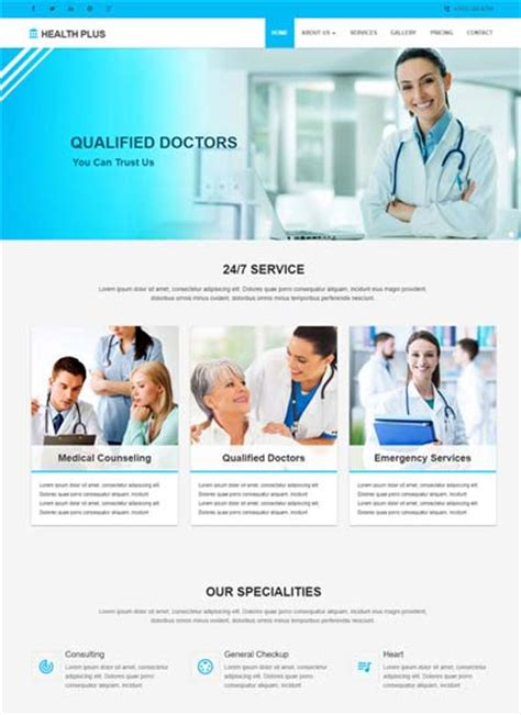 Best Free Medical Hospital Website Templates 2019 Webthemez Healthcare Website Templates