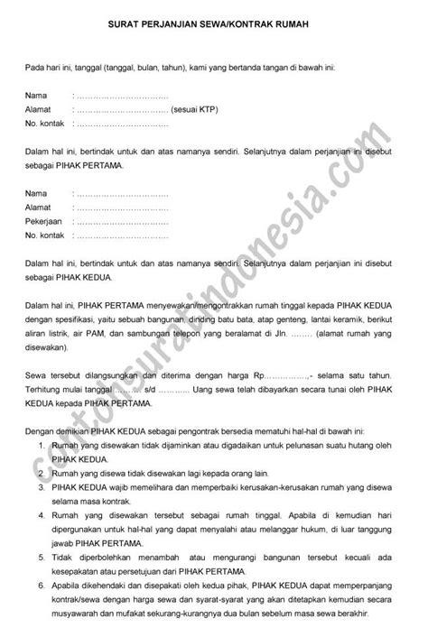 contoh surat kesepakatan bersama pengakhiran perjanjian