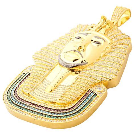 Pharaoh Face Custom Pendant ? Luxury Lab ? Custom Lab Made Jewelry