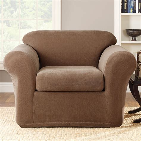 stretch slipcover for couch sure fit slipcovers stretch metro chair slipcover 2 pc