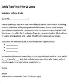 sle thank you follow up letters 5 exles in word pdf