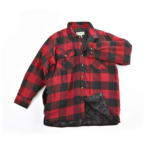 insulated plaid shirt jacket 187152 shirts at sportsman