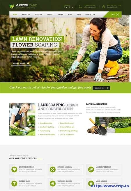 themes wordpress garden 32 best landscaping gardening wordpress themes 2017