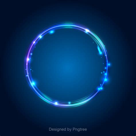 White And Blue Picture Effect light effect blue circle light effect border blue
