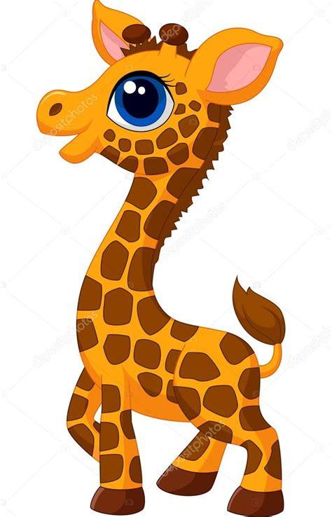 imagenes de jirafas bebes en caricatura jirafa beb 233 vector de stock 44733885 depositphotos