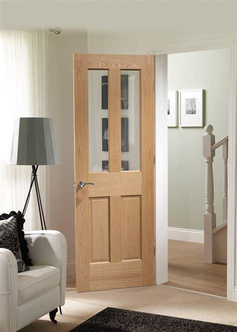 bathroom doors glazed malton internal oak fire door with clear glass