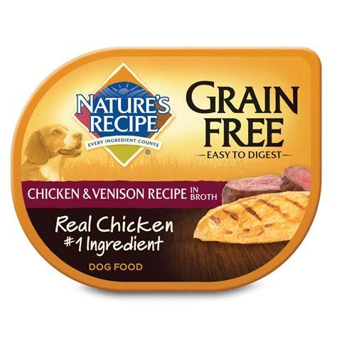 nature s recipe food nature s recipe grain free food trays chicken venison petco