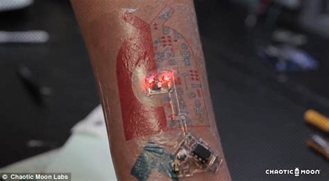 chaotic moon tattoos worn on the skin monitor heart rate