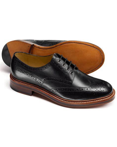 Handcrafted Footwear - handmade mens derby black dress shoes year