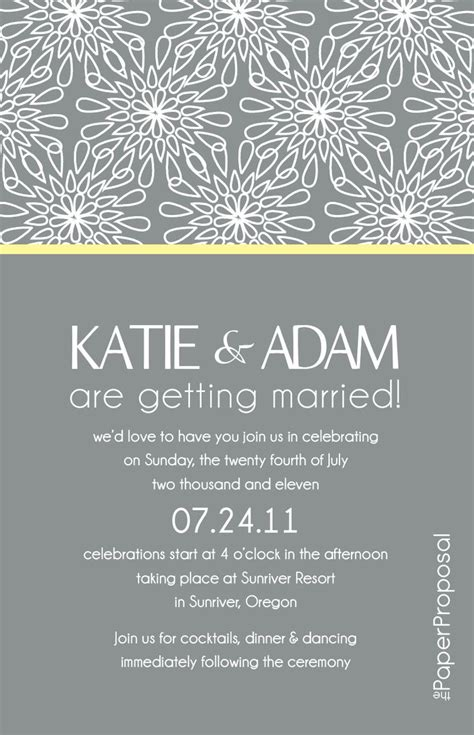 modern bloom wedding invitation just needs a