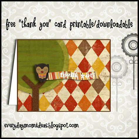 free printable owl thank you cards owl quot thank you quot card free printable download everyday