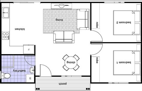 Floor Plan Of 2 Bedroom Flat granny flat building plans south africa with 1 bedroom