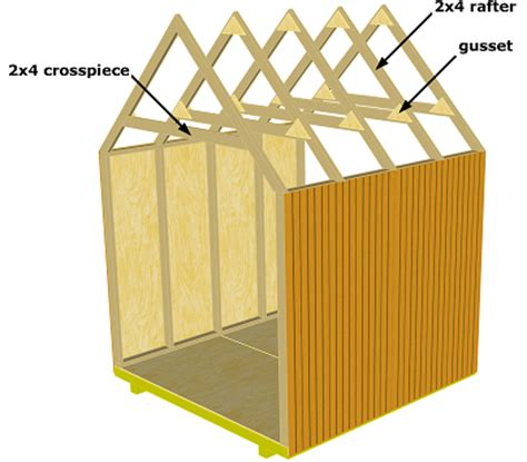 Shed Gable Roof Framing Diy 8x8 Shed Plans 7x10