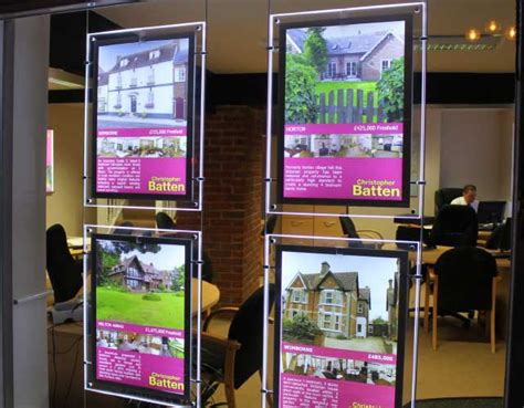 led light window display postcode wallpaper map displays for estate agents