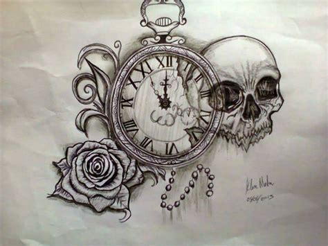 rose skull tattoo design by klairemartin on deviantart