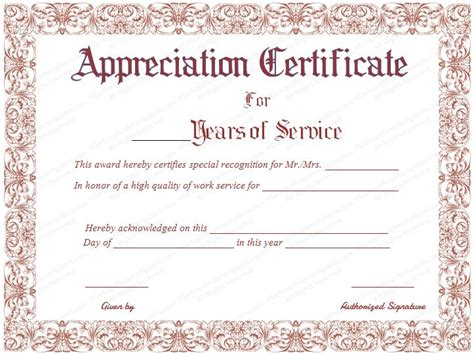 employee anniversary certificate template best 25 certificate of appreciation ideas on