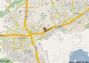 map of ayres inn corona east corona