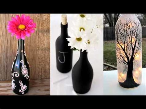 upcycled diy glass bottle art home decor ideas painted