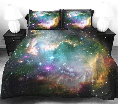 etsy bedding below the milky way galaxy and moon phase decor best of