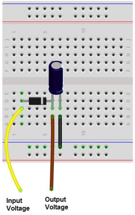 parallel capacitors on breadboard how to build a peak detector circuit