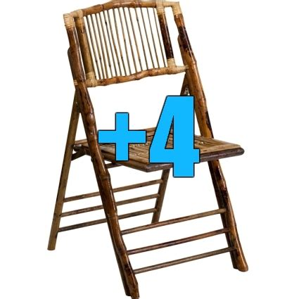 big bamboo chair high quality package of 4 bamboo design folding chairs