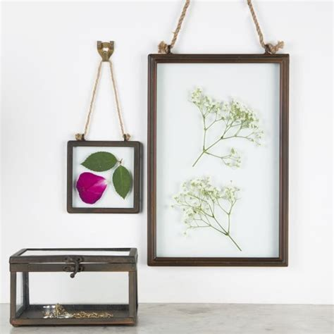 frame hanging industrial finish square hanging photo frame by sass