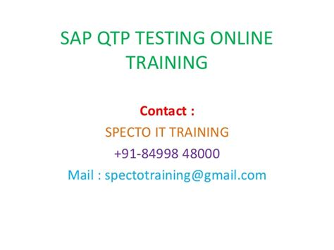 Sap Qtp Tutorial | sap qtp testing online training