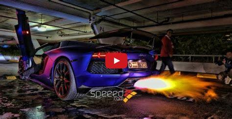 Sound Of Lamborghini Engine Lamborghini S Spit Flames Start Bush Fires In Dubai