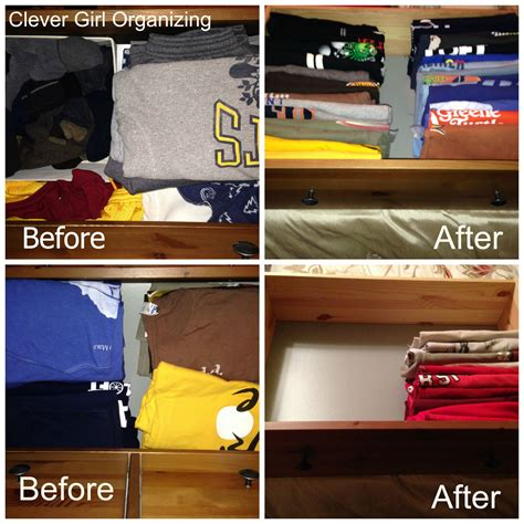 How To Organize T Shirts In A Drawer by Storing T Shirts A New Way File Them Away