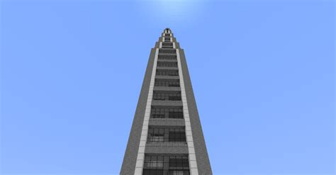 Cladded 1 7 x skyscraper 100 blocks tall creative mode