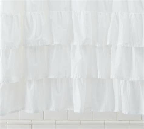 Feminine Shower Curtains Ruffle Shower Curtain Pottery Barn