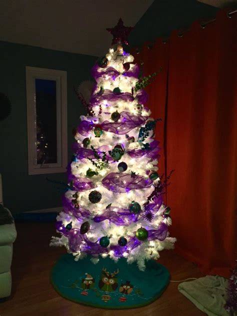 white christmas tree with purple lights 37 awesome silver and white tree decorating ideas 187 ecstasycoffee