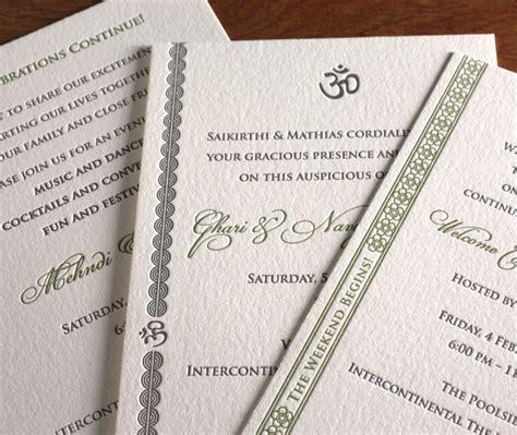 indian wedding invitation symbols religious symbols on wedding invitations letterpress wedding invitation
