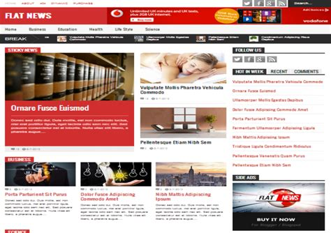 template toko online gratis 2014 flat news blogger template free download free blogger