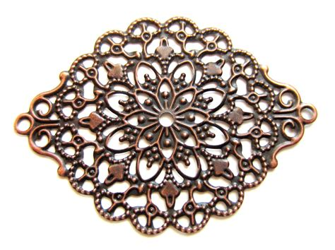 filigree for jewelry 10 metal filigree stimg antique copper jewelry findings