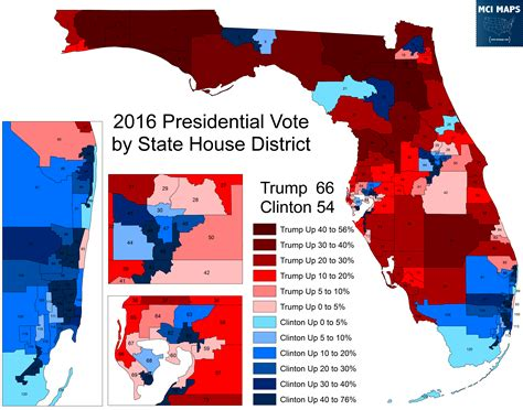 florida congressional districts map presidential results by florida state house district mci