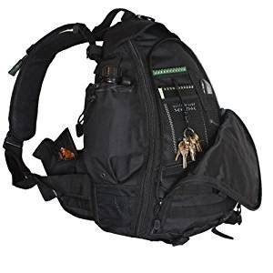 Black Backpack 1678 ultimate arms gear stealth black ambidextrous teardrop tactical sling pack backpack