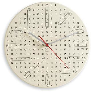 layout word clock fun word search puzzle wall clock home interior design