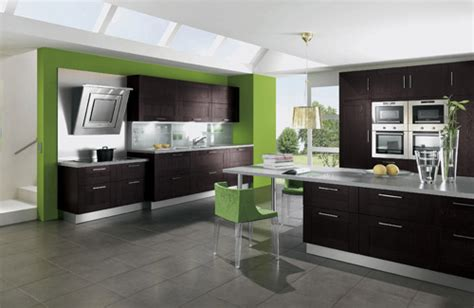 kitchen design green 57 bright and colorful kitchen design ideas digsdigs