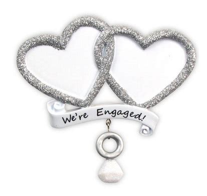 christmas ornament quot we re engaged ornament quot