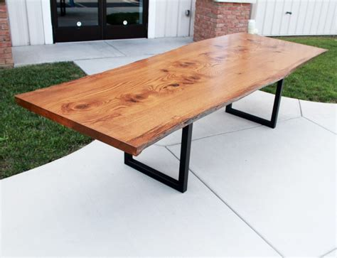 Live Edge Pin Oak Table Solid Hardwood Furniture Live Edge Conference Table