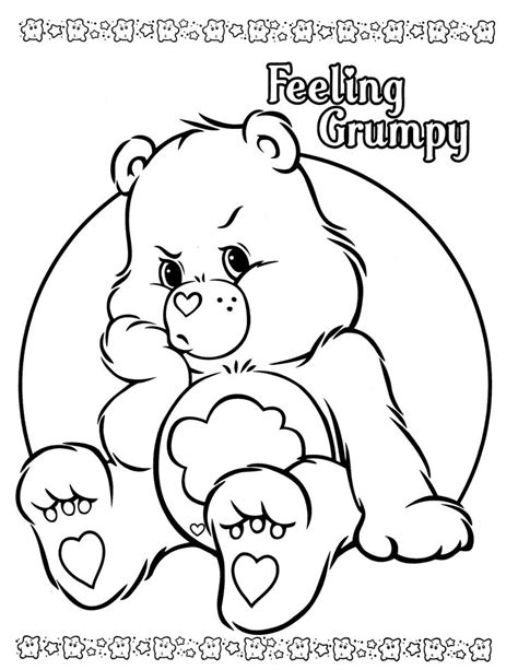 wonderheart bear coloring pages 81 coloring pages grumpy bear wonderheart care