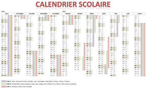 Calendrier Excel 2014 Calendrier Scolaire 2015 2016 Webcalendrier